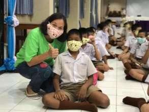 Masks for school children.