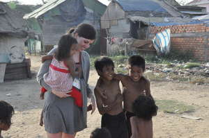 Young children in Cambodia