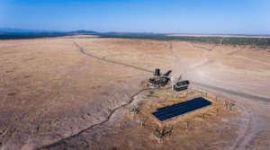 Solar powered borehole on Ol Pejeta