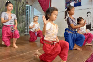 Young dancers in class