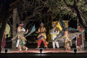 Dancing in Raffles Hotel Garden