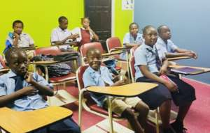 Students in the after school program