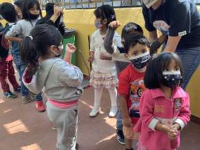 children enjoying games in ednica
