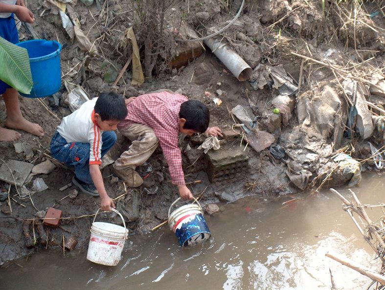 Bringing potable water in Babli's village in Mewat