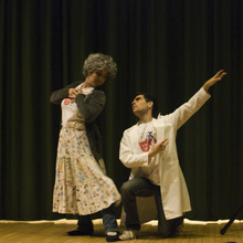 Mrs. Stromboli and Enoch dance - Photo by Jill Steinberg