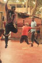 One of our students in Kampala tries a c-jump!