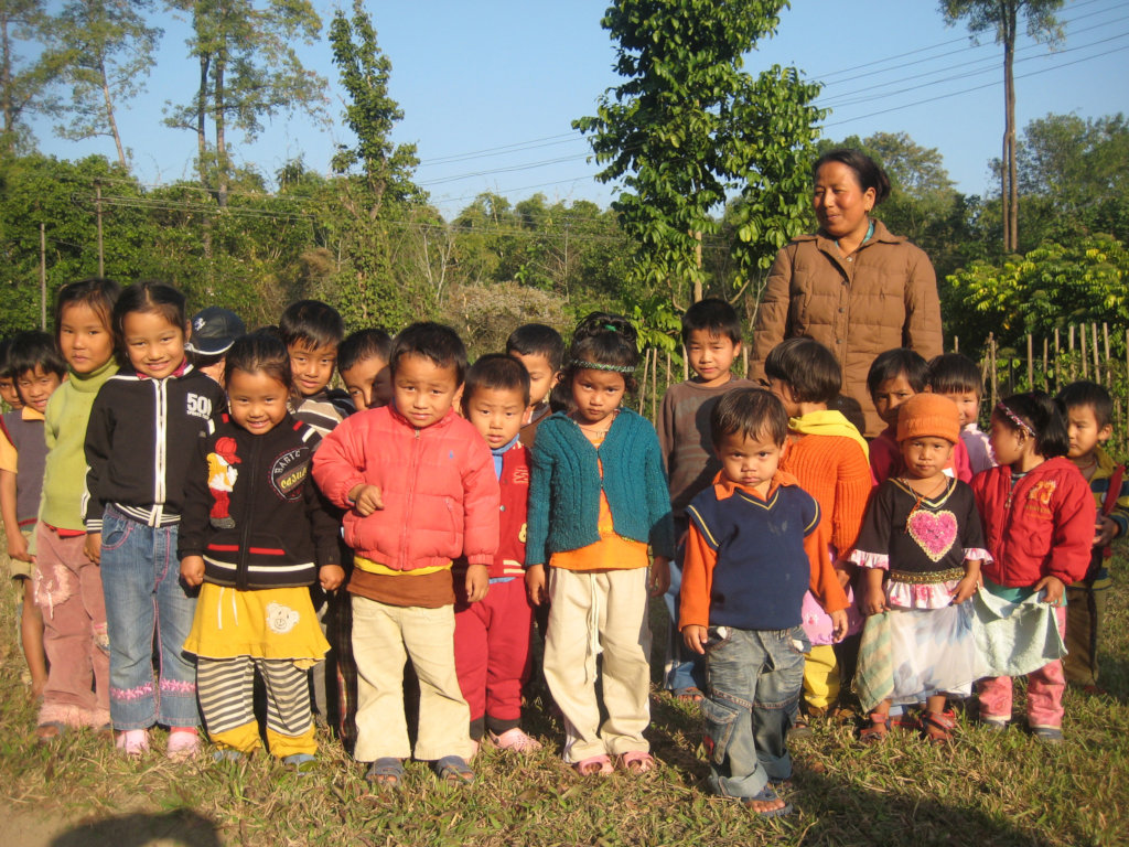 Tibetan refugees in exile in Tezu, India