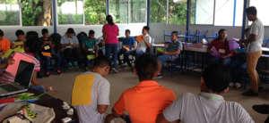 Youth taking part in activity rehabilitation.
