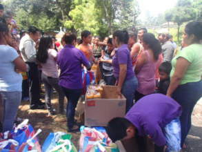 Delivery to all 141 displaced families