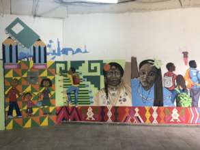 A new mural is in the works at Espacio Migrante