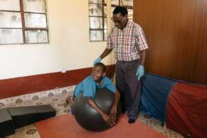 Equipment being used for physiotherapy