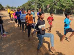 Children learn the importance of warming up
