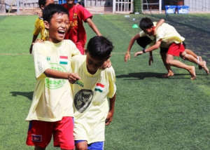 Teamwork at the annual Globalteer Games