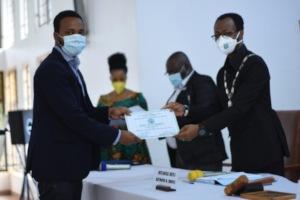 Accepting the Congratulatory Document