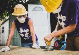 Volunteers in St. John