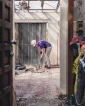 Debris removal in a home in the USVI
