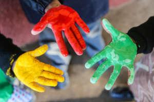 Finger painting - explore texture