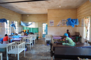 A maternity ward in Bombali with mosquito nets
