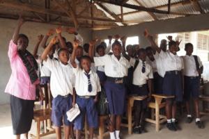 Children take part in their school health club