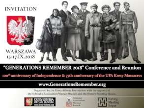 Invitation to Generations Remember 2018 Conference