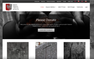 The new Kresy-Siberia Virtual Museum landing page