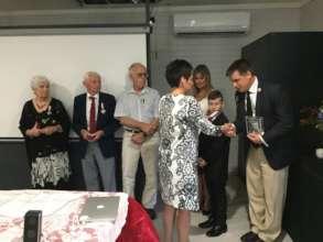Siberian Exiles Cross presentation in Australia