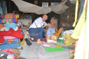 Visiting and feeding the elderly