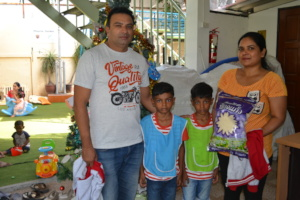 A family receives a 5kg bag of rice