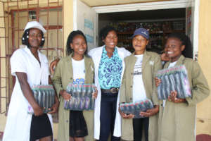 Trish, Constance and the Epworth team sell soap