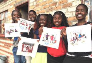 WAP girls describe the pandemic through embroidery