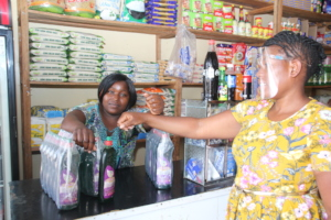 Constance sells Clean Girl soap in Chitungwiza