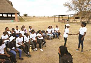 Ambassadors train girls in reproductive health