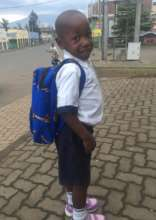 Akim going to school
