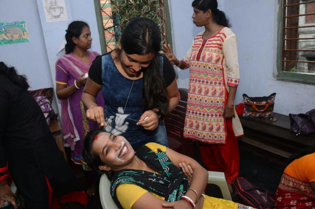 Train 50 underprivileged women in beauty therapy