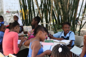 Time to do the homework with support of YWCA Haiti