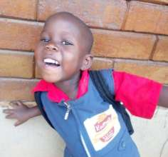 Chosen, a pupil at Kathy's Kindergarten, Mayuge