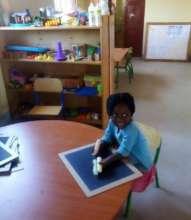 Trying the equipment before Kindergarten opened