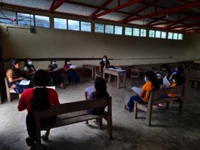 Pre-test surveys with some program participants