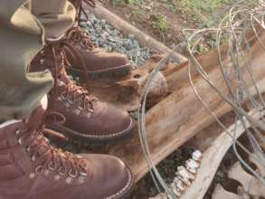 New boots courtesy of WESSA Lowveld