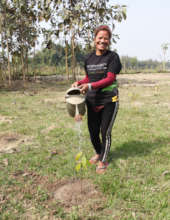 Employee of our Tree-Planting Partner