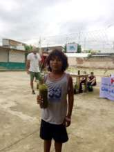 Planet Drum gave away trees to all the children!