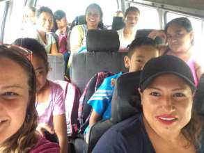 Families enjoying the van ride!