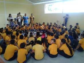 Students in Kichwa Ceremony