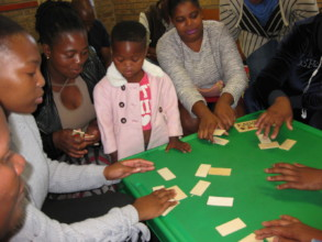 Parents and children learning new games