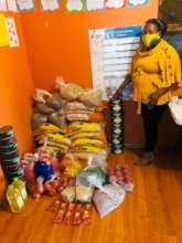 Food donations at Blooming Stars