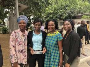 Exec. Dir. Amini Kajunju with 2018 IUGB Graduates