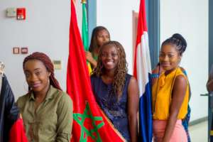 2018 IUGB Graduation Flag Bearers