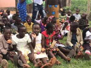Village children at the school's community program