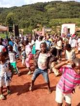 Children dancing at the Amaani Gabato program.