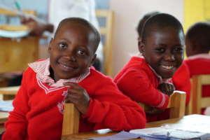 Students at Rukundo Preparatory School